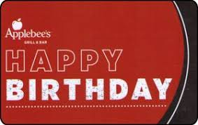gift card happy birthday applebee s