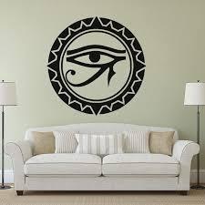 Egyptian Eye Wall Sticker Home House Decoration Eye Of Horus Vinyl Wall Poster Eye Of Ra Wall Decal Egyptian Art Az283 Wall Stickers Aliexpress