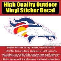 Denver Broncos Colorado Flag White Line Vinyl Car Window Laptop Bumper Colorado Sticker