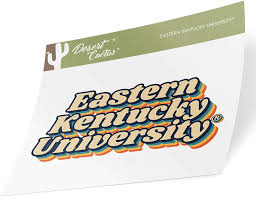 Amazon Com Eastern Kentucky University Eku Colonels Ncaa Vinyl Decal Laptop Water Bottle Car Scrapbook 70 S Name Sticker Arts Crafts Sewing