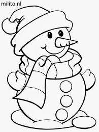 Kleurplaten Kleurplaat Sneeuwpop