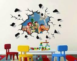 Home Decor Toy Story Buzz Lightyear Woody 3d Smashed Wall Sticker Decal Art Mural J743 Fibsol Com