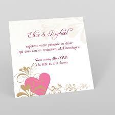 carte invitation cerude mariage