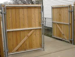 Use Chain Link Posts For Wood Driveway Gates Google Search Wood Gates Driveway Modern Fence Design Cheap Privacy Fence