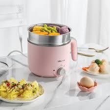 Gấu mini nhân viên sinh viên đa năng bếp điện ký túc xá nhân tạo cháo luộc  mì lẩu lẩu máy ăn sáng - Nồi trứng   Lumtics