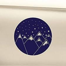 Amazon Com Mountains And Stars Night Sky Vinyl Decal Laptop Car Truck Bumper Window Sticker Navy Blue Automotive