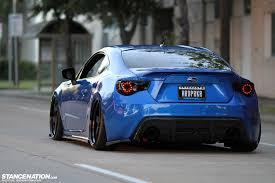 blue brz cars modified subaru wallpaper