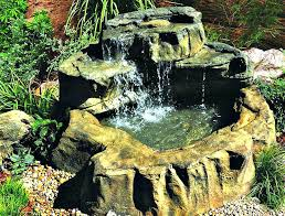 rock small patio pond koi water gardens