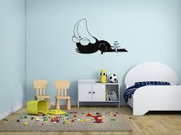 Ik187 Wall Decal Sticker Decor Funny Sleeping Cartoon Crow Interior Ki Stickersforlife