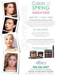 glo minerals colors of spring makeup