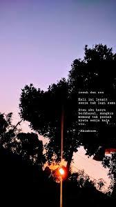 love katakata quotes senja sunset kutipan terbaik sajak