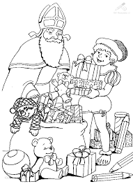 1001 Kleurplaten Sinterklaas Zwarte Piet Piet Met Pakjes