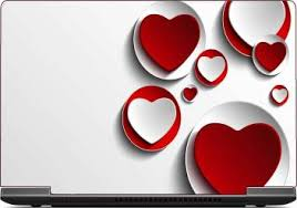 I Birds Red Hearts Exclusive High Quality Laptop Decal Laptop Skin Sticker 15 6 Inch 15 X 10 Inch Ib 5k Skin 1085 Vinyl Laptop Decal 15 6 Price In India Buy I Birds Red Hearts