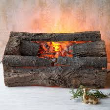 faux fireplace logs 1970s vintage real