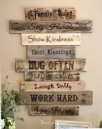 House Rules Sign Our Family Rules Decor Family Values Art Family Wood Signs Rustic Wall Art Handmade Home