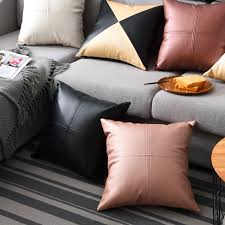 high quality pu faux leather cushion