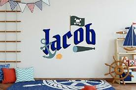 Pirates Custom Name Wall Decal Vinyl Sticker For Home Wall Decor Ebay