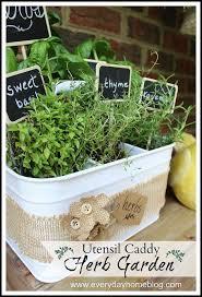 utensil caddy herb garden diy herb