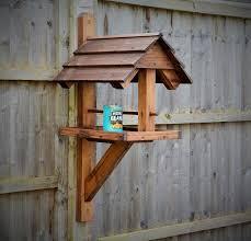 Handmade Wall Fence Mounted Bird Feeder Table Etsy In 2020 Wooden Bird Feeders Wood Bird Feeder Bird Houses Diy