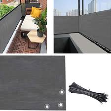 Amazon Com Balcony Privacy Screen Fence Cover 3 5ft X16 5ft Privacy Screen Uv Resistant Visibility Reduction Fence Screen For Balcony Apartment Backyard Patio Porch Garden Include Cable Ties Grey Garden Outdoor