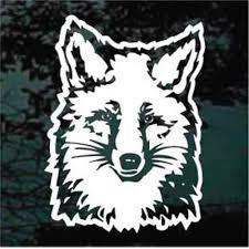 Fox Car Decals Stickers Decal Junky