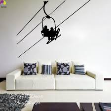 Extreme Sport Ski Wall Sticker Living Room Sofa Cable Car Slider Skiing Winter Wall Decal Sofa Kids Room Skier Vinyl Home Decor Wall Stickers Aliexpress