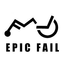 Funny Epic Wheelchair Fail Vinyl Sticker Car Decal