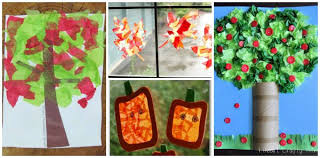 fall crafts for kids using tissue paper