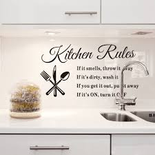 Wall Stickers Kitchen Rules Words Stickers Decal Vinyl Letters Decals Wall Stickers Decor Diy Removable Stickers For Home Decor 23 62 X12 99 Walmart Com Walmart Com