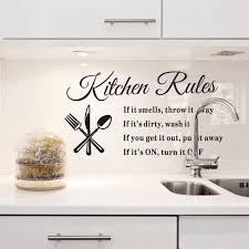 1pcs Removable Kitchen Rules Words Wall Stickers Decal Modern Home Decor 23 62 X12 99 Walmart Com Walmart Com