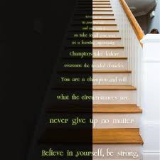 Believe In Yourself Stair Glow In Dark Vinyl Sticker Night Glowing Motivation Love Home Quote Decal Realistic Luminescent Light Ghost Decords Tm