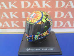 Die cast 1/5 Modellino Casco Helmet Moto GP Casco Valentino Rossi 2009