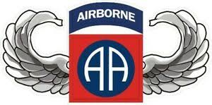 U S Army 82nd Airborne Division With Wings Wall Vinyl Decal Sticker Military Ebay