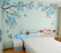 Baby Blue Nursery Wall Decal Cherry By Cuma Wall Decals On Zibbet