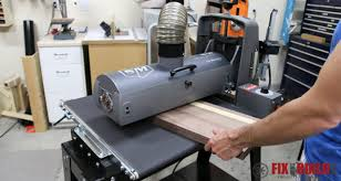 using a drum sander in the