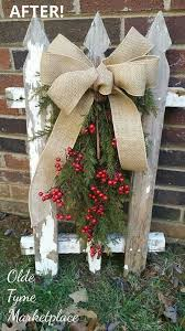 Chippy Fence With Greens Christmas Diy Christmas Decorations Outdoor Christmas Decorations