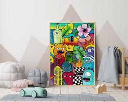 Kids Room Decor Pop Art Print Graffiti Wall Art Boys Etsy