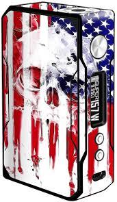 Amazon Com Skin Decal Vinyl Wrap For Voopoo Drag 157w Tc Resin Reg Vape Mod Stickers Skins Cover U S A Flag Skull Drip