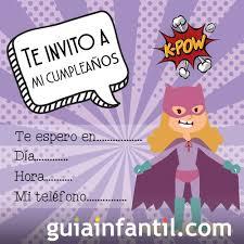 Invitacion De Cumpleanos Para Ninos Con Dibujos Sobre Peliculas Y