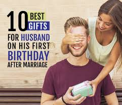 husband on his first birthday after