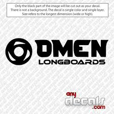 Car Decals Car Stickers Omen Long Boards Logo Car Decal Anydecals Com