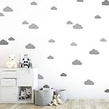 Amazon Com Grey Clouds Wall Vinyl Decal Decor Nursery Adhesive Cloud Stickers For Kids Baby Nordic Nubes Bedroom Decoration Arts Crafts Sewing