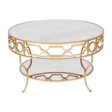 gold round coffee table portium global