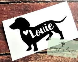 Dachshund Car Decal Etsy