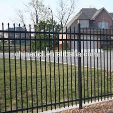 Spear Top Black Steel Fence Rail Fencing W Type Palisade Metal Fence Buy Steel Fence Cheap Metal Fencing Metal Fence Product On Alibaba Com