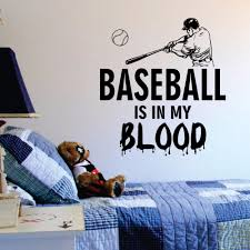 Custom Name Baseball Wall Decal Kid S Room Sports Decal Baseball Art S92
