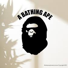 Bathing Ape Wall Decal Stickers Decor Modern Easy Sticker Vinyl Decal Size Small Wall Decal Sticker Sticker Decor Vinyl Sticker