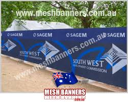 Temporary Fence Mesh Banners And Shade Cloth Banner Signs