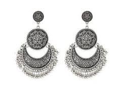 indian fashion jewelry silver oxidized