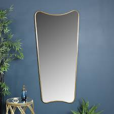 extra large antiqued gold curved wall